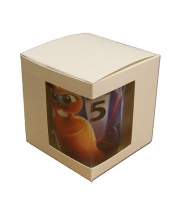 Boîte carton avec fenêtre pour mug - publimug