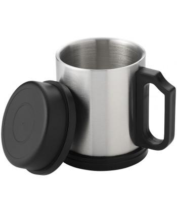 Mug isotherme BARSTOW argent/noir - publimug