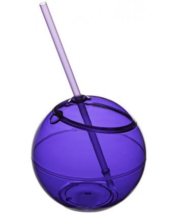 Ballon plastique FIESTA avec paille - publimug