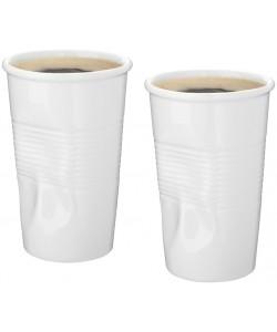 2 tasses GOBELET céramique blanc personnalisable - Publimug