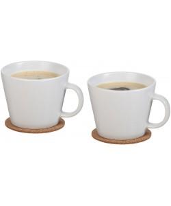 2 tasses avec sous-tasse personnalisable - Publimug